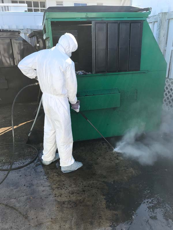 dumpster pad cleaning virginia beach